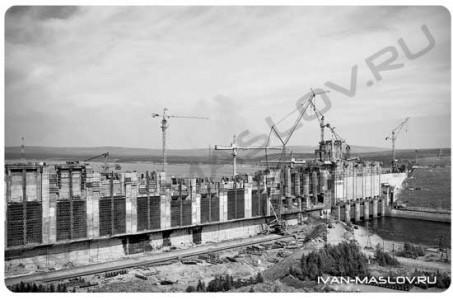 Строительство Красноярской ГЭС